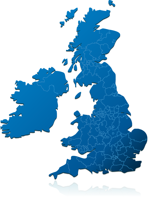 Image showing map of Great Britain and Northern Ireland.