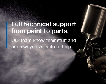 Full technical support from paint to parts.